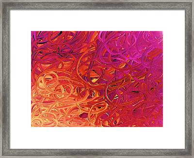 Red Abstract Framed Print by Eric  Schiabor