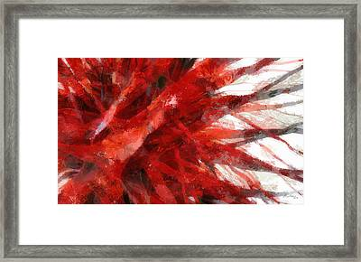 Red Abstract Framed Print by Russ Harris