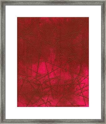 Red Abstract Shapes Framed Print by Rockstar Artworks