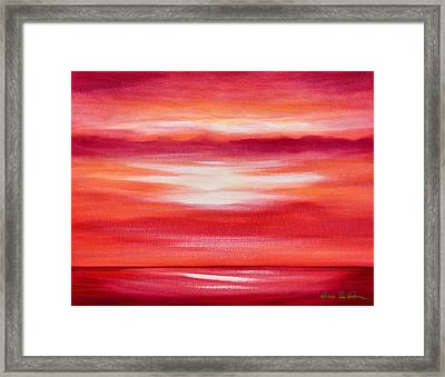 Red Abstract Sunset Framed Print