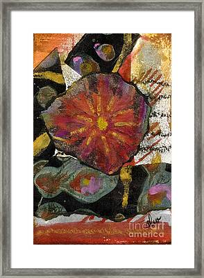 Red Affection Framed Print by Angela L Walker