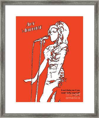 Red Amy Framed Print