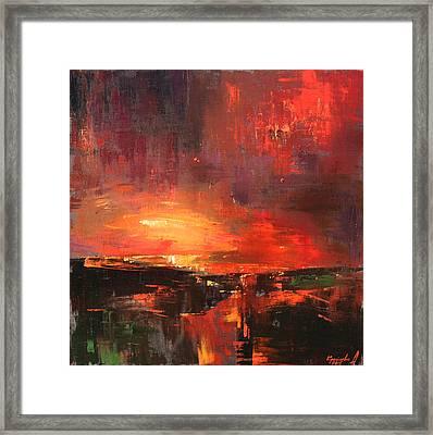Red Framed Print by Anastasija Kraineva