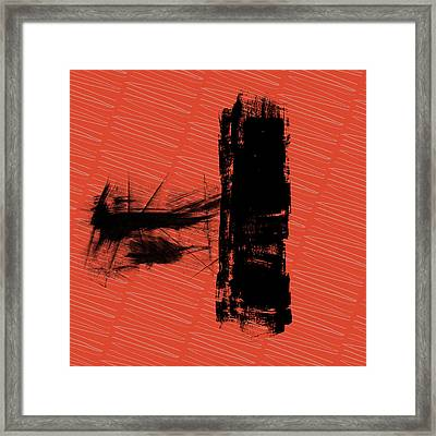 Red And Black Allover Abstract Framed Print