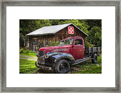 Red And Black Framed Print by Debra and Dave Vanderlaan