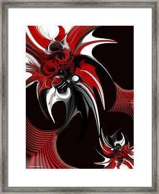 Red And Black Formation Framed Print