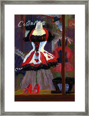 Red And Black Jester Costume Framed Print