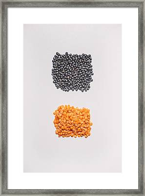 Red And Black Lentils Framed Print by Scott Norris