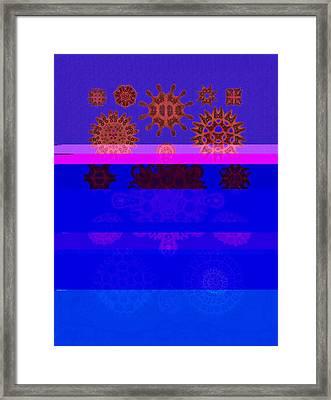 Red And Blue Algae Framed Print by Diane Addis
