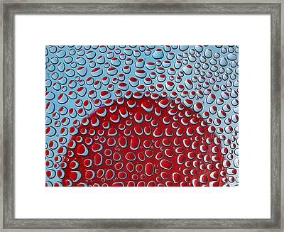 Framed Print featuring the photograph Red  And Blue Drops by Vladimir Kholostykh