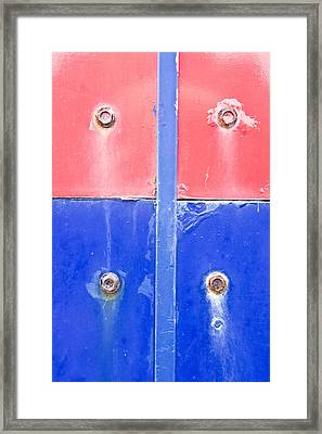 Red And Blue Metal Framed Print
