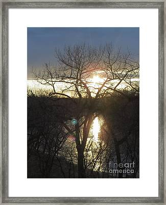 Red And Blue Orbs Framed Print