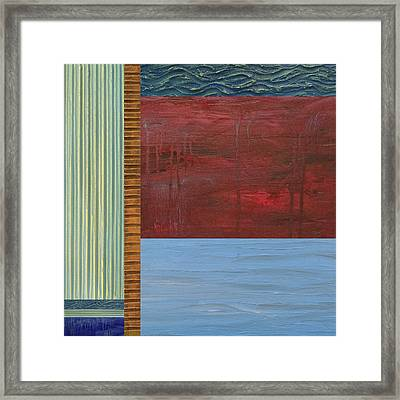 Red And Blue Study Framed Print
