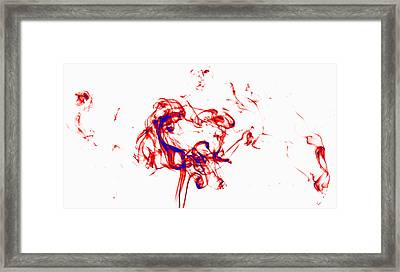 Red And Blue Twirrl Framed Print by Rainer Kersten