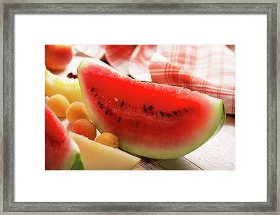 Red And Fresh Framed Print by Vadim Goodwill