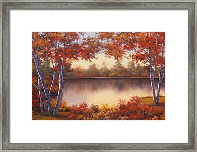Red And Gold Framed Print by Diane Romanello