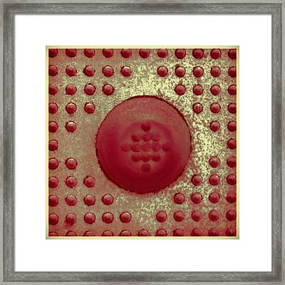Red And Gold Dots In Cube Framed Print by Tony Grider