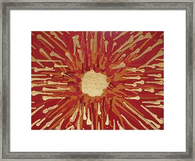 Red And Gold No. 2 Framed Print by Samuel Freedman