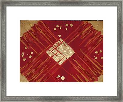 Red And Gold No. 3 Framed Print by Samuel Freedman
