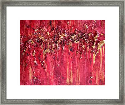 Red And Gold  Framed Print by Vicki Gumm