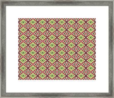 Framed Print featuring the digital art Red And Green by Elizabeth Lock