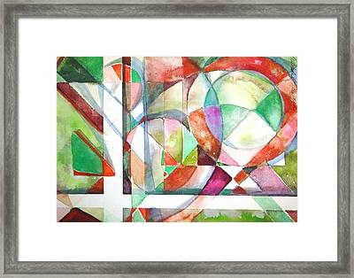 Red And Green Framed Print by Mindy Newman