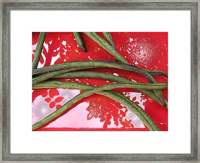 red and green N2 Framed Print by Evguenia Men