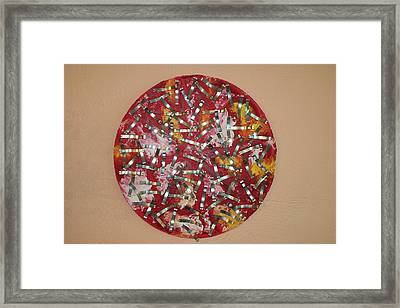 Red And Metal Framed Print by Biagio Civale