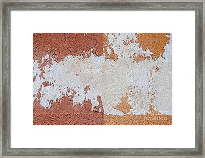 Red And Orange Abstract Framed Print by Elena Elisseeva