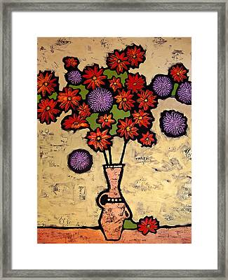 Red And Purple Framed Print by Farhan Abouassali