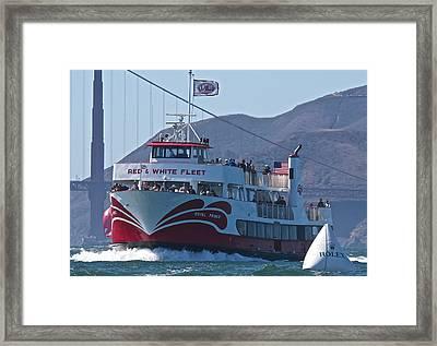 Red And White Fleet Framed Print