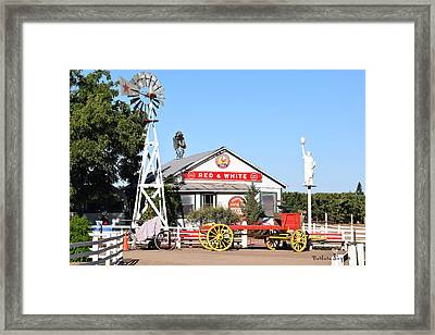 Red And White Food Stores Framed Print by Barbara Snyder