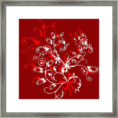 Red And White Ornaments Framed Print by Svetlana Sewell