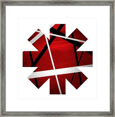 Red And White Framed Print by Rhcp