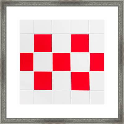Red And White Tiles Framed Print by Tom Gowanlock