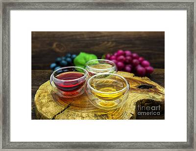 Red And White Wine Framed Print