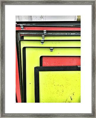 Red And Yellow Metal Framed Print by Tom Gowanlock