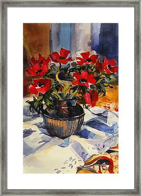 Red Anemones Framed Print