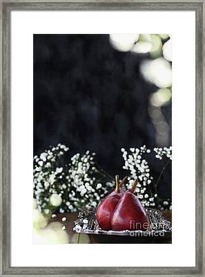 Framed Print featuring the photograph Red Anjou Pears by Stephanie Frey