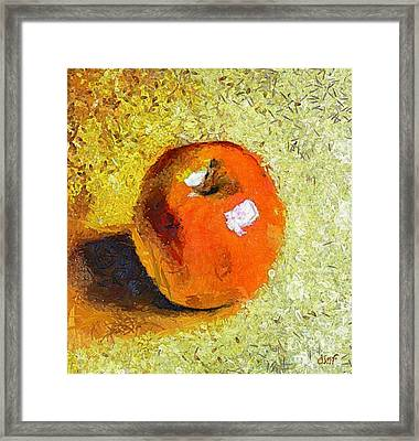 Framed Print featuring the painting Red Apple by Dragica  Micki Fortuna