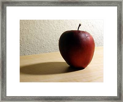 Red Apple Framed Print by Eric Forster