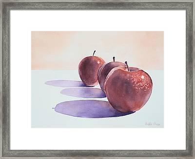 Red Apples Framed Print by Bobbi Price