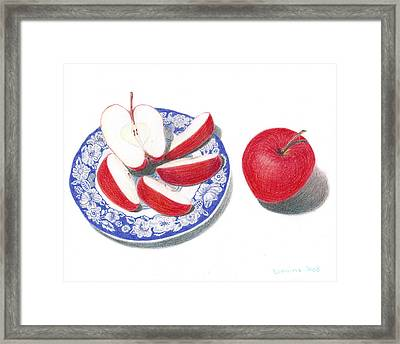 Red Apples Framed Print by Loraine LeBlanc