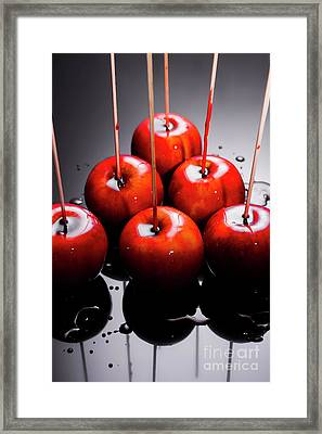 Red Apples With Caramel  Framed Print