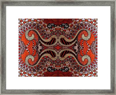 Red Framed Print by Ariela