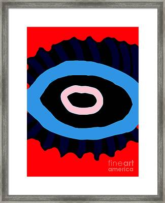 Red Around The Eye Framed Print by Marie Ward-Alonge