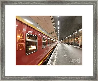 Red Arrow Express Framed Print