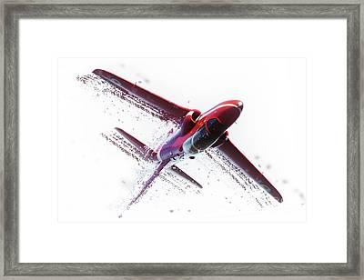 Red Arrow Shatter Framed Print