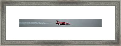 Framed Print featuring the photograph Red Arrow Straight - Teesside Airshow 2016 by Scott Lyons