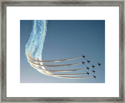Red Arrows - 1 Framed Print by Graham Taylor